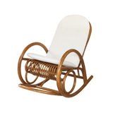 Wicker rocking chair Royalty Free Stock Images