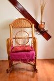 Wicker rocking chair Stock Photo