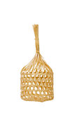 Wicker round bamboo basket isolated. Stock Images