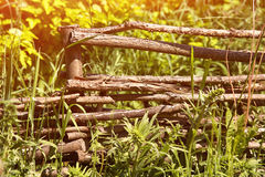 Wicker rustic fence Royalty Free Stock Photography