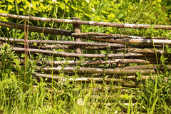 Wicker rustic fence Stock Images