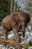 Wicker Sculpture of an Elephant Royalty Free Stock Images