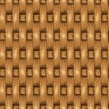 Wicker Seamless Background, Wooden Basket Textured Royalty Free Stock Photography