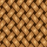 Wicker Seamless Background, Wooden Basket Textured Royalty Free Stock Photo
