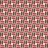 Wicker seamless pattern. Basket weave motif. Red colors geometric abstract background with overlapping stripes. Royalty Free Stock Photos