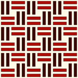 Wicker seamless pattern. Basket weave motif. Red colors geometric abstract background with overlapping stripes. Stock Photos
