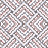 Wicker seamless pattern with geometric ornament. Pastel colors background with overlapping stripes. Fish scale motif. Royalty Free Stock Photos