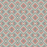 Wicker seamless pattern with geometric ornament. Pastel colors background with overlapping stripes. Fish scale motif. Royalty Free Stock Images