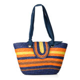 Wicker shoulder bag Royalty Free Stock Images