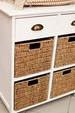 Wicker sideboard boxes Stock Photos