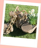 Wicker sidecar Stock Photo