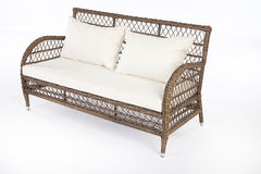 Wicker Sofa Stock Photo