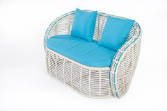 Wicker Sofa Royalty Free Stock Photo