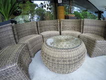 Wicker Sofa Royalty Free Stock Images