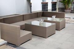 Wicker Sofa Set Stock Image