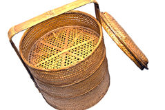 Wicker Steamer Basket Royalty Free Stock Photo