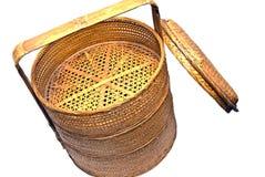 Wicker Steamer Basket royalty free stock photo