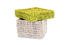 Wicker storage box Stock Photo