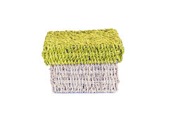 Wicker storage box Royalty Free Stock Images