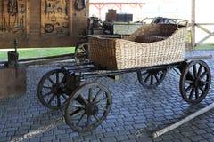 Wicker straw cart in Peasant Museum Stock Image
