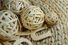 Wicker and straw designs Royalty Free Stock Image