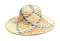Wicker straw hat Stock Photo