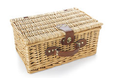 Wicker suitcase Stock Photos