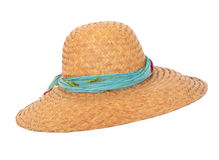 Wicker summer hat Royalty Free Stock Images