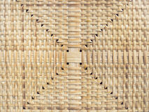 Wicker surface Mat Floor Bamboo texture handicraft Stock Images