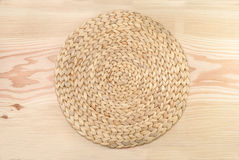 Wicker  table coaster Royalty Free Stock Photo