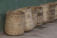Wicker tea baskets Royalty Free Stock Photography