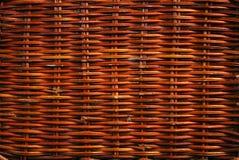 Wicker texture. Isolated background in studio stock photo