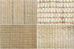 Wicker texture set Royalty Free Stock Images