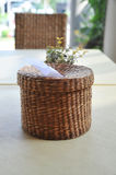 Wicker Tissue Box put Royalty Free Stock Images
