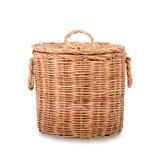 Wicker trash basket Stock Photography