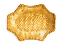 Wicker tray Royalty Free Stock Images