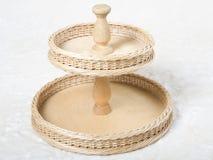 Wicker tray Royalty Free Stock Image