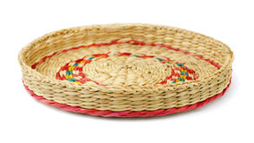 Wicker tray Stock Photo