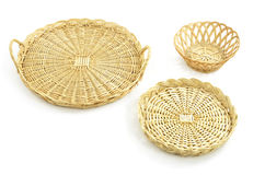 Wicker trays, basket Royalty Free Stock Photography