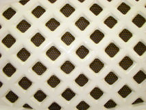 Wicker ventilation grille made of ceramics tape Royalty Free Stock Photos