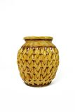 Wicker vessel. On white background Royalty Free Stock Image