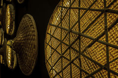Wicker Wall Lights Royalty Free Stock Photography