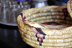 Wicker ware and other dishes Royalty Free Stock Photos