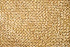 Wicker wattled straw handmade texture Royalty Free Stock Images