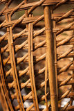 Wicker weave. Close up of a wicker basket Royalty Free Stock Images