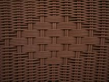 Wicker Weave Brown Texture. Hand woven brown wicker pattern with center design stock photography
