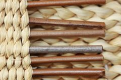 Dried esparto weave detail for background stock image