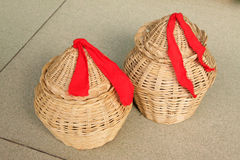 Wicker weaving crafts Stock Photos