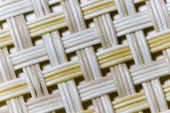 Wicker weaving and wicker pattern. Pliable twigs, typically of willow, plaited or woven to make items such as furniture and baskets royalty free stock photos