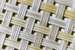 Wicker weaving and wicker pattern. Pliable twigs, typically of willow, plaited or woven to make items such as furniture and baskets stock photos